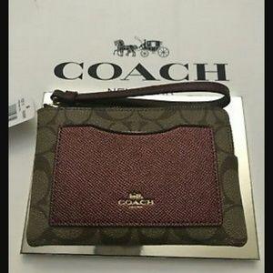 Coach zip wristlet